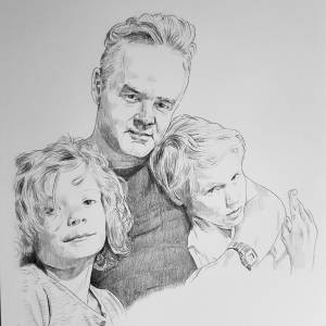Familieportret potlood