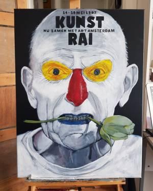 Poster kopie acrylverf