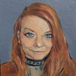 portret acrylverf