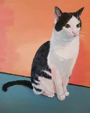 Huisdier portret acrylverf