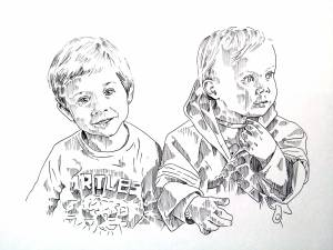 Dubbel Portret Broertjes